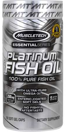 Muscletech, Platinum fish oil, 100 капс.