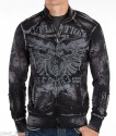 Affliction. Толстовка APPROVAL LS ZIP MOCK NECK