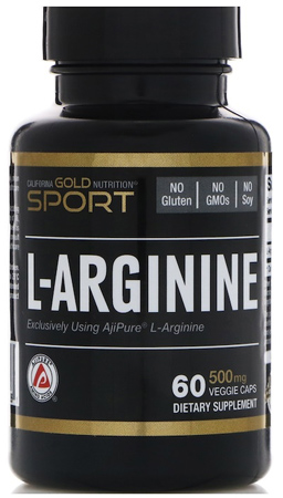 California Gold Nutrition, L-аргинин, 60 капс.