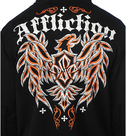 Affliction. GSP MICRO ZIP HOOD